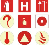 Fire protection symbols. Vector illustration of fire protection symbols Royalty Free Stock Photography