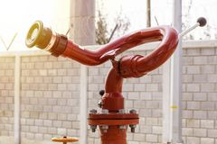 Fire protection system hydrant type gun royalty free stock photo