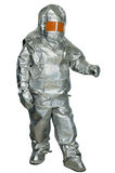 Fire proximity suit. Protect a firefighter from high temperatures, especially near fires of extreme temperature Royalty Free Stock Image