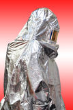 Fire proximity suit. For firefighter protection from high temperatures Royalty Free Stock Photos