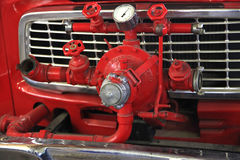 Fire pump car Stock Photography