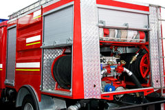 Fire pump engine Stock Photos