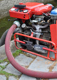 Fire pump water Stock Images