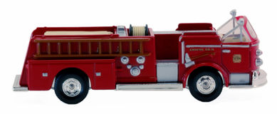 Fire pumper. A pumper style firetruck, isolated on a white background Royalty Free Stock Photos