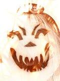 Fire pumpkin stock image