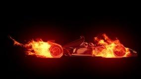Fire race car stock video