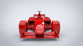 Fire and rage red - formula racing car Stock Image