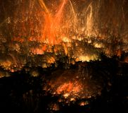 Fire rain, abstract fractal background Stock Photography