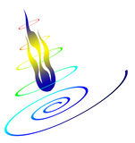 Fire rainbow. Fire, fire design, fire clip art, fire rainbow Stock Image