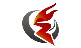 Fire Rapid Template. Fire Rapid Logo Design Template Vector Royalty Free Stock Photo