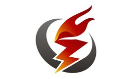 Fire Rapid Template. Fire Rapid Logo Design Template Vector Royalty Free Stock Image