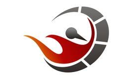 Fire Rapid Template. Fire Rapid Logo Design Template Vector Stock Image