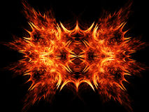 Fire rays blazing. Abstract fire rays blazing on dark background Stock Photos