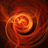 Fire rays twirl. Abstract chaos fire rays on dark background Stock Images