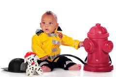 Fire-Ready Baby Royalty Free Stock Image