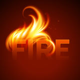 Fire realistic background. Vector illustration Royalty Free Stock Photos