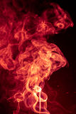 Fire Red abstract smoke design on black background Stock Photos
