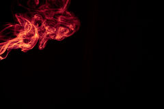 Fire Red abstract smoke design on black background.  Royalty Free Stock Photo
