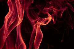 Fire Red abstract smoke design on black background.  Royalty Free Stock Photography