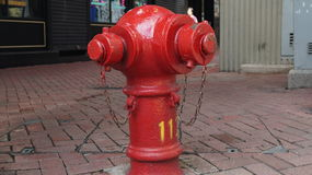 Fire red hydrant Stock Images