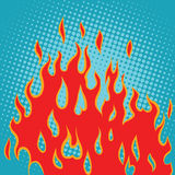 Fire red pop art Royalty Free Stock Image