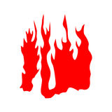 Fire red silhouette Stock Photos