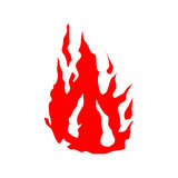 Fire red silhouette Royalty Free Stock Photos