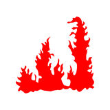Fire red silhouette Stock Images