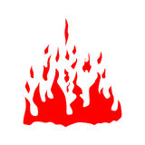 Fire red silhouette Stock Photography