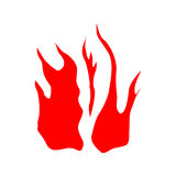 Fire red silhouette Royalty Free Stock Photography