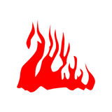 Fire red silhouette Royalty Free Stock Image
