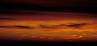 Fire Red Sky Stock Images