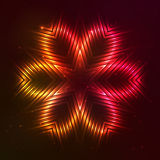 Fire red  star. Fire red  abstract shining flaming star Stock Photos