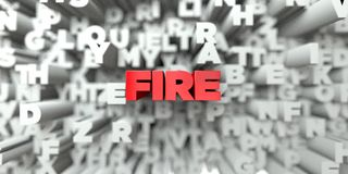 FIRE -  Red text on typography background - 3D rendered royalty free stock image Royalty Free Stock Images