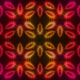 Fire red vector abstract seamless pattern Stock Image