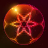 Fire red vector abstract sphere. Fire red vector abstract shining flaming sphere Stock Image