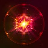 Fire red vector abstract sphere. Fire red vector abstract shining flaming sphere Stock Photos