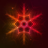Fire red vector star. Fire red vector abstract shining flaming star Royalty Free Stock Photos