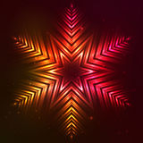 Fire red vector star. Fire red vector abstract shining flaming star Stock Photo