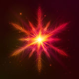 Fire red vector star Royalty Free Stock Image