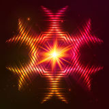 Fire red vector star Royalty Free Stock Photo