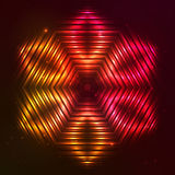 Fire red vector star. Fire red vector abstract shining flaming star Royalty Free Stock Images