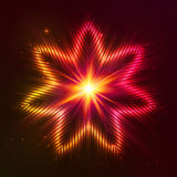Fire red vector star. Fire red vector abstract shining flaming star Royalty Free Stock Photo
