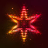 Fire red vector star. Fire red vector abstract shining flaming star Royalty Free Stock Photography