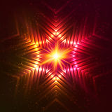 Fire red vector star Stock Photo
