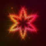Fire red vector star Royalty Free Stock Photos