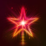Fire red vector star Stock Images