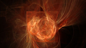 Fire red waves abstract background Royalty Free Stock Photos