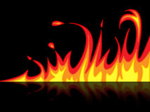 Fire Reflection Represents Mirrored Blazing And Raging. Reflection Fire Indicating Flaming Burn And Mirroring Royalty Free Stock Photos