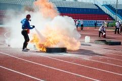 Fire relay race Royalty Free Stock Photos